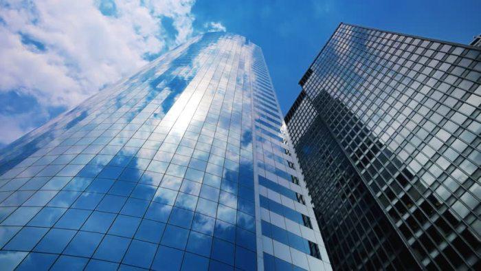 skyscraper windows