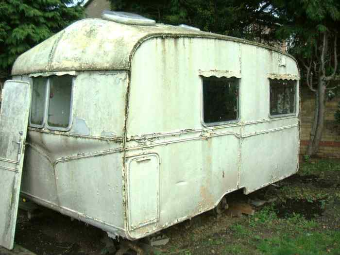 mouldy caravan