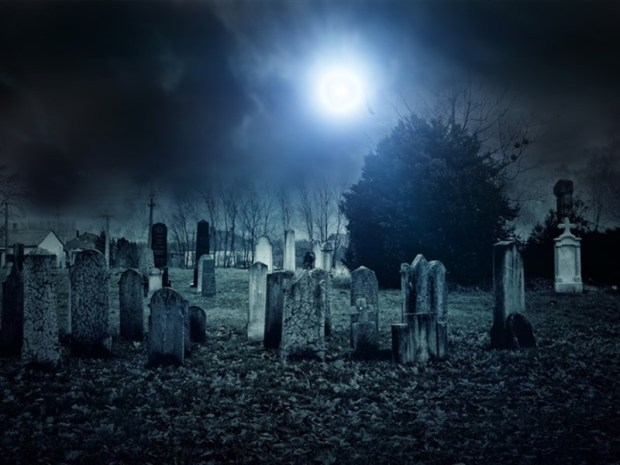 graveyard night