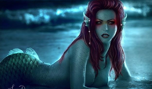 red haired mermaid
