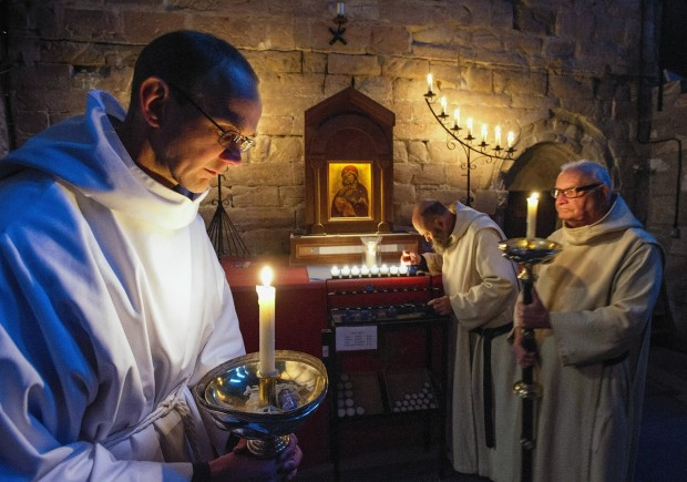 Monks at Pluscarden Abbey prepare for Christmas
