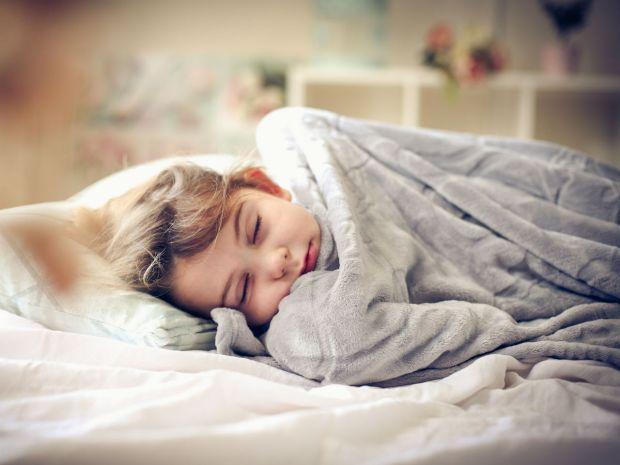 kid in blanket
